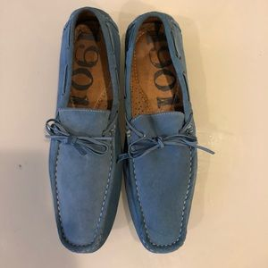Blue suede 1901 men's Blue moccasins size 12